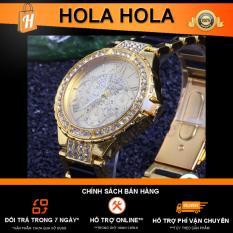 Đồng hồ dây kim loại Luxury L1 thời trang (Trắng)