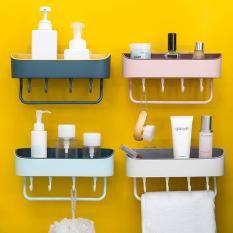 Kệ để đồ đa năng kèm móc treo thanh phơi khăn trong nhà tắm,bếp, nhà vệ sinh