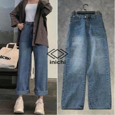 Quần Jean nữ ống rộng SIMPLE JEAN Q853 lưng ôm chất đẹp