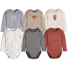 Set 8 body tay dài cho bé trai và gái 3-24 tháng