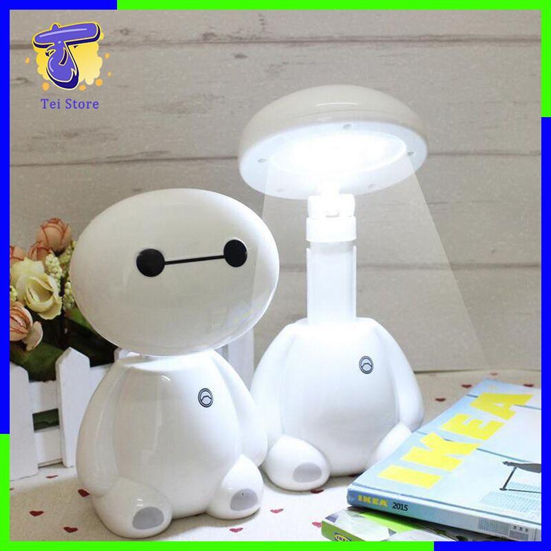 Đèn học để bàn -Đèn ngủ tích điện chân sạc thông minh,mô hình Baymax dễ thương,trang trí nhà cửa,chụp hình...