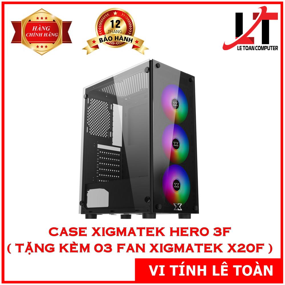 CASE XIGMATEK HERO 3F (TẶNG KÈM 03 FAN XIGMATEK X20F)