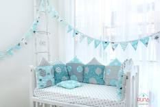 Dây cờ handmade trang trí cũi, phòng ngủ cho bé.