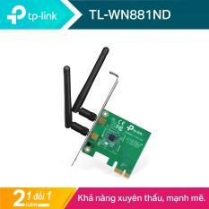 TP-Link PCI Express Card wifi (Thu wifi) Chuẩn N 300Mbps TL-WN881ND – Hãng phân phối chính thức