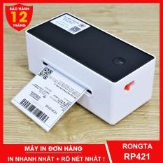 Máy in đơn hàng TMĐT RONGTA RP421 in tem nhãn giấy tự dán và phiếu vận chuyển giao hàng bằng công nghệ in nhiệt không dùng mực – Dâu Mart