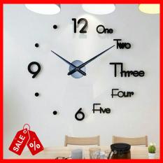 Đồng hồ dán tường 3D cỡ lớn từ 90cm đến 120cm – Đồng hồ dán tường trang trí 3D khổ lớn – Đồng hồ treo tường trang trí- – DH072