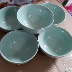 Bộ 10 chén sứ Pastel màu xanh ngọc cao cấp