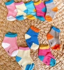 SET 5 ĐÔI tất vớ cổ VỪA cho bé 0–2 tuổi giữ ấm đôi chân cho bé yêu
