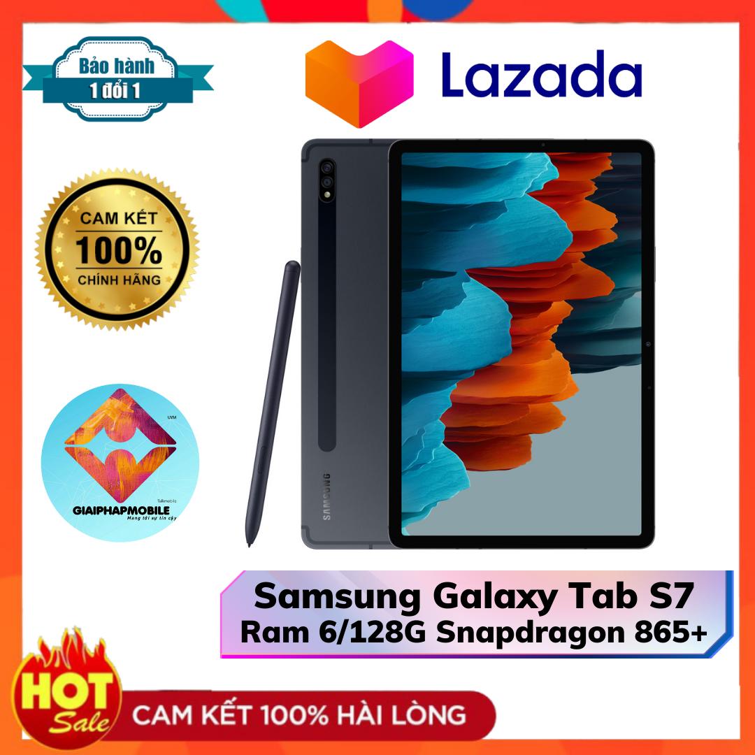 Máy tính bảng Samsung Galaxy Tab S7 Ram 6/128G Snapdradon 865+ Pin 8000 mAh 45 W