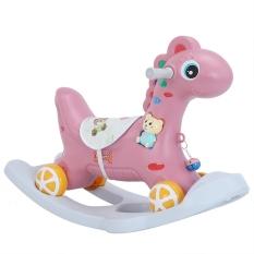 Ngựa bập bênh cao cấp có bánh xe, có nhạc, có đèn