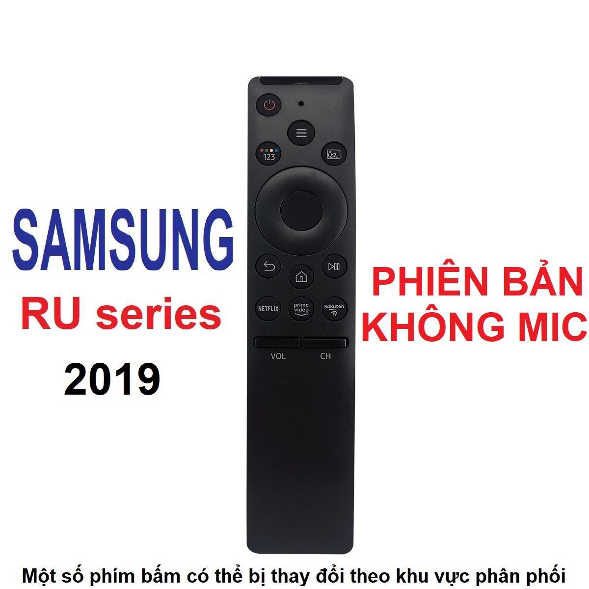 Remote điều khiển tivi SAMSUNG smart dòng RU không mic (One remote - Phiên bản rút gọn)