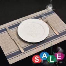 Bộ 4 tấm khăn lót chén dĩa bàn ăn (Sọc xanh)