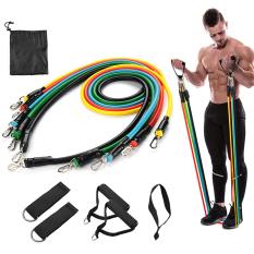 Dụng cụ tập gym, dây đàn hồi tập yoga, dụng cụ tập thể dục đa năng, bộ 5 dây đàn hồi tập thể hình gọn nhẹ, có tính đàn hồi cao