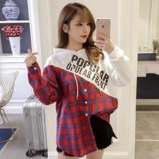 Áo Sơ Mi Caro Phối Màu Có Nón Hàn Quốc Robin-Fashion EVA SOMI 20008S1