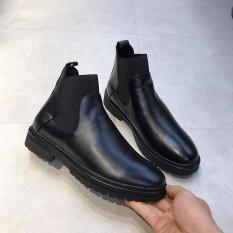 Giày Boot Nam Chelsea Da Nguyên Tấm Cao Cấp