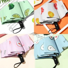 Ô – dù tự động họa tiết trái cây dễ thương, ô dù, dụng cụ che mưa, đồ dùng ngoài trời, (TC06), Huy linh