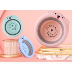 Chậu rửa mặt gấp gọn cho bé sơ sinh với chất liệu nhựa nguyên sinh an toàn cho bé thoải mái cho bé rửa mặt tay chân