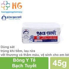 Bông Y Tế Bạch Tuyết (45g, 100g) – Dùng để sát trùng khi tiềm, lau rửa vết thương và thấm máu, vệ sinh cho em bé