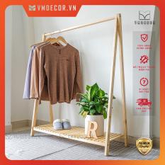 Giá gỗ treo quần áo 1 tầng gỗ thông VMdecor