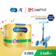 Hộp sữa bột Enfagrow A+ 4 2.2kg (4 túi thiếc 550g) + Tặng 1 xe scooter cho bé