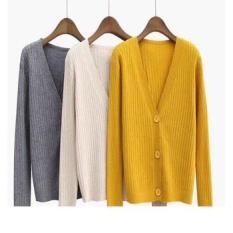 Áo khoác Cardigan len 3 khuy cho bạn nữ xinh xắn thời trang VNXK
