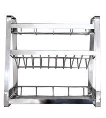 Kệ gia vị nhà bếp cao cấp INOX 304 láp 5ly – kích thước ngang 40cm