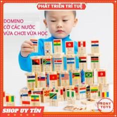 Đồ Chơi Domino 100 Lá Cờ Các Quốc Gia Các Nước Trên Thế Giới Cho Bé