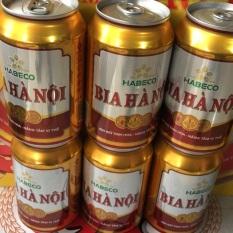 6 lon bia hà nội 330ml
