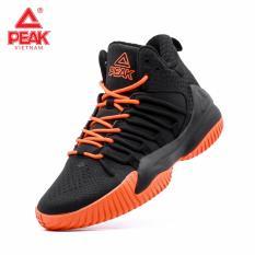 Giày bóng rổ PEAK Streetball Master Fly E84061A – Đen Cam