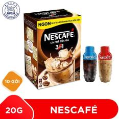 Mua 1 Hộp Nescafé 3in1 Cà phê Sữa Đá – 10 gói x 20g tặng 1 bình shaker năng động 300ml