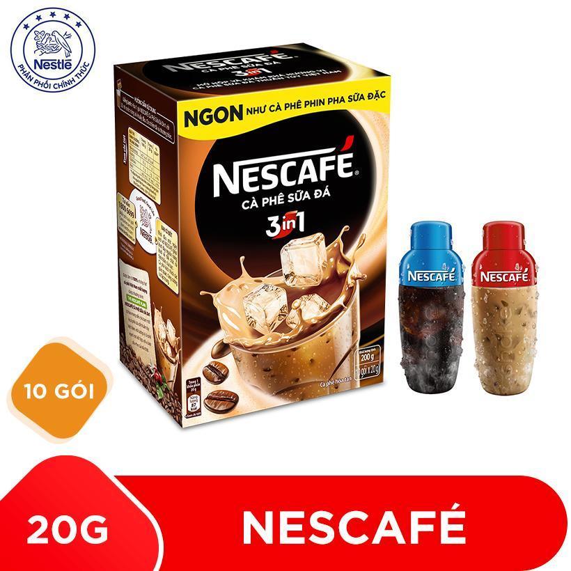 Mua 1 Hộp Nescafé 3in1 Cà phê Sữa Đá - 10 gói x 20g tặng 1 bình shaker năng động...