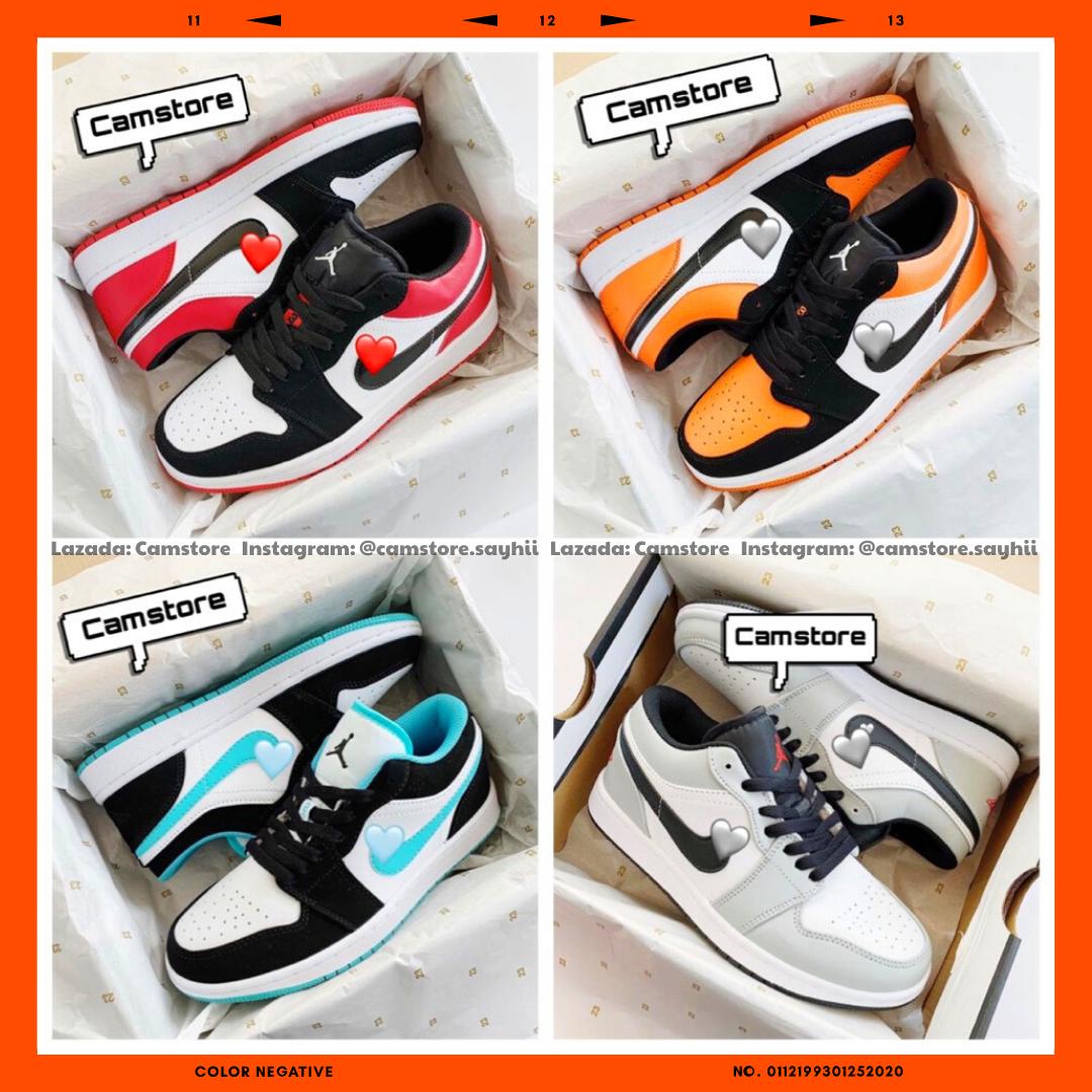 Giày Thể Thao Nam Nữ Cổ Thấp Sneaker 1 Low Black Toe Phong Cách Đường Phố