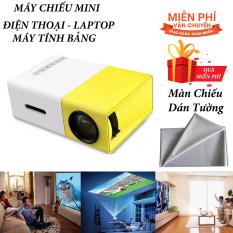 Máy chiếu phim Mini cho điện thoại laptop YG-300 hỗ trợ độ phân giải lên đến 1920 x 1080 pixel giã ngoại, giải trí cho trẻ em Tặng Màn Chiếu Phản Quang