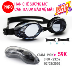Kính bơi người lớn kính bơi nam, nữ POPO 1153 mắt kính bơi chống tia UV, hạn chế sương mờ Trong Bộ sư tập mắt kiếng bơi thi đấu chuyên nghiệp 2021