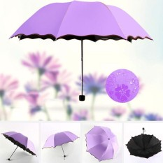 Dù ô gấp đi mưa, dù che nắng chống tia UV Nở Hoa khi gặp nước, dù ma thuật, Cây dù gấp gọn 8 nan thép (Nhiều màu)