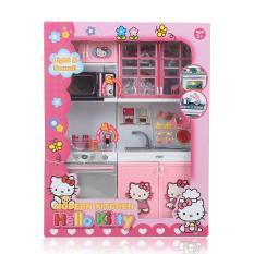 Đồ chơi tủ nấu ăn 2 ngăn, do choi nha bep 2 ngan, Bộ nhà bếp 2 ngăn có đèn nhạc cao cấp (kèm pin+loại to)