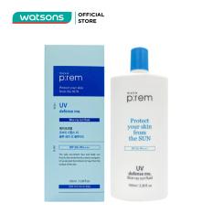 Kem Chống Nắng Vật Lý Make P:rem UV Defense Me. Blue Ray Sun Fluid SPF 50+ PA++++ Dạng Sữa 100ml