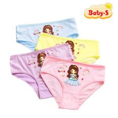 Quần chip cotton cho bé gái 2-12 tuổi hình công chúa nhiều màu sắc đáng yêu chất thun co giãn thấm hút mồ hôi tốt Baby-S – SC006