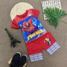 Bộ thun Spider Man cho bé trai (6 tháng đến 8 tuổi) – Từ 8-22 kg