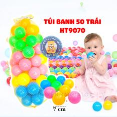 Bóng cho bé túi lưới 50 bóng 7cm đồ chơi cho bé hàng Việt Nam chất lượng cao HT9070