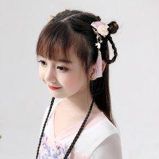 Đôi cài tóc quạt sakura thả tua rua thỏ kiểu cổ trang