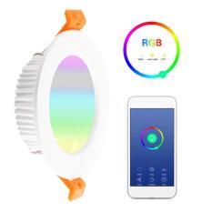 [7W] Đèn Led âm trần Wifi(App Tuya, SmartLife), Có thể kết nối theo nhóm, hổ trợ ALEXA, Google Home (DLAT_1)
