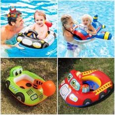 Đồ chơi thể thao Phao bơi trẻ em hình ô tô, máy xúc, máy ủi đất siêu dễ thương, phao ngồi an toàn cho bé từ 3 đến 8 tuổi