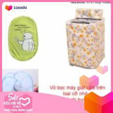 Vỏ bọc máy giặt cửa trên cỡ nhỏ ( màu ngẫu nhiên ) + túi lưới bung ( Xanh lá )