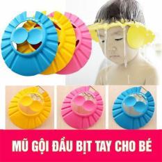 Mũ gội đầu chắn nước cho bé- Chất liệu mút mềm êm,4 nút dùng được cho tất cả lứa tuổi. SẢN PHẨM KHÔNG THỂ THIẾU GIA ĐÌNH CÓ BÉ NHỎ