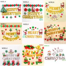 Sét Bóng Trang Trí Chủ Đề Giáng Sinh Noel Mẫu Mới 2020