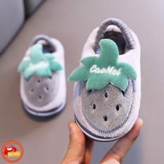 Giày lười trẻ em – giày lười bông hình quả dâu trong bộ sưu tập giày trái cây cho bé từ 1-3 tuổi, giày lười cho bé trai, giày lười cho bé gái, GL1012, tuancua