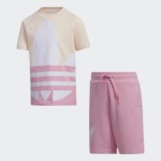 adidas ORIGINALS Bộ quần áo Ba Lá lớn Unisex trẻ em GN6789