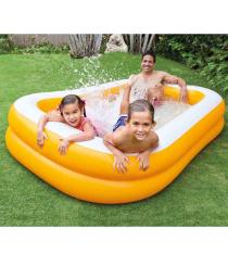 Bể bơi phao INTEX chữ nhật màu cam 57181 – Hồ bơi cho bé mini, Bể bơi phao trẻ em, bể bơi cho bé, bể bơi ngoài trời