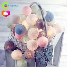 Dây đèn LED 20 bóng cotton dùng trang trí tiệc, phòng ngủ, bàn trang điểm – GDA064